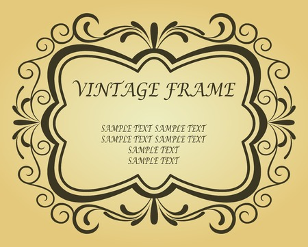 Vintage frame in victorian style for ornate and design Stock Vector - 6497364