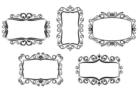 Vintage frame in victorian style for ornate and design Stock Vector - 6497358