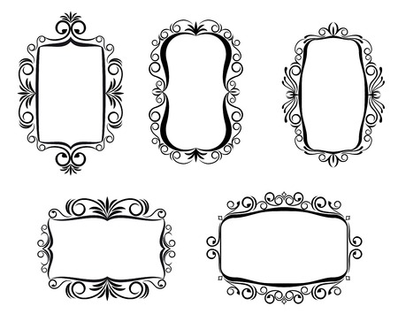 Vintage frame in victorian style for ornate and design Stock Vector - 6497361