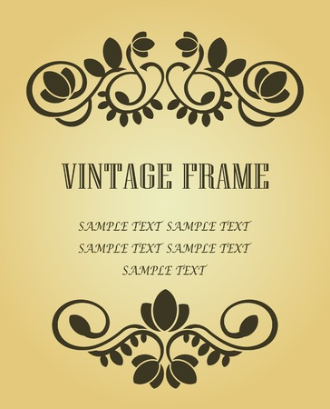 Vintage frame in victorian style for ornate and design  Stock Vector - 6497359