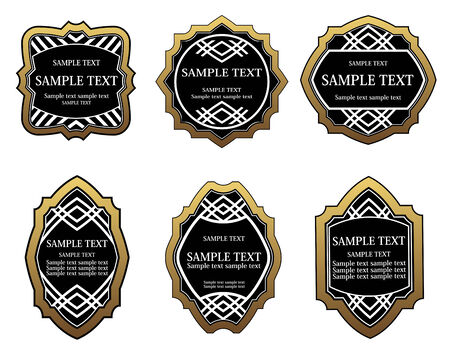 Set of golden labels for design food and beverages Stock Vector - 6554182