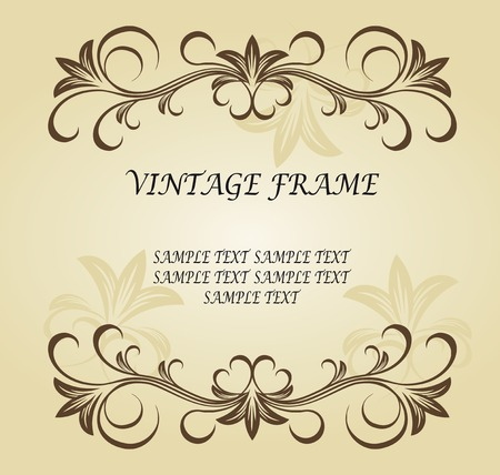 Vintage frame in victorian style for ornate and design Stock Vector - 6554181