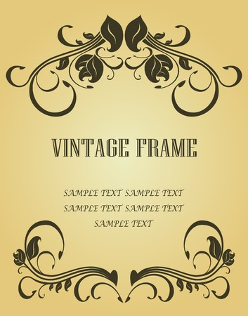 Vintage frame in victorian style for design as a background Stock Vector - 6554176
