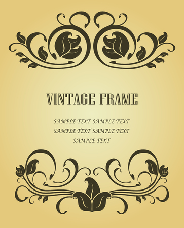 Vintage frame in victorian style for design as a background Stock Vector - 6554177