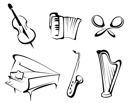 Musical instruments set for design and decorate Stock Vector - 6554170