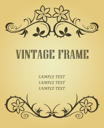 Vintage frame in victorian style for design as a background Stock Vector - 6554214