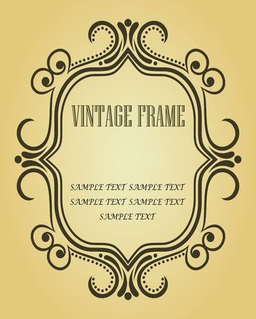 Vintage frame in victorian style for design as a background Stock Vector - 6554220