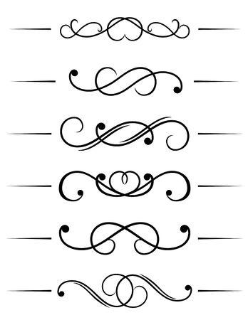filigree: Swirl elementen en monogrammen voor ontwerp en versier