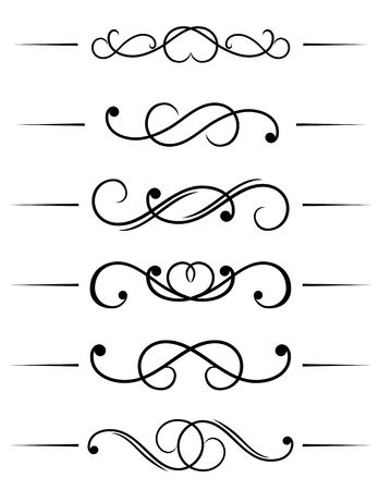 Swirl elements and monograms for design and decorate Vector