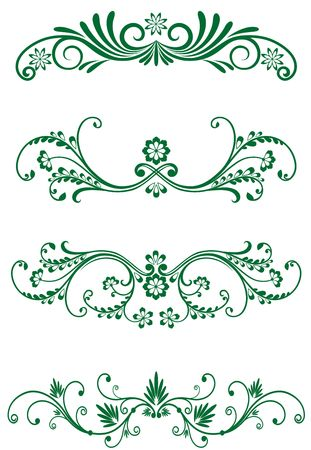 Antique vintage frames isolated on white for design Stock Vector - 6554245