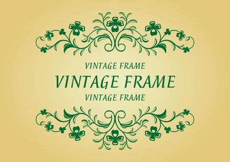 Vintage frame in victorian style for design as a background Stock Vector - 6554246