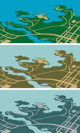 central park: Mapa de la ciudad como un concepto de fondo o el turismo  Vectores