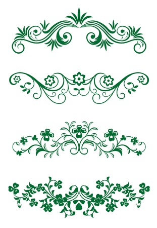 Antique vintage frames isolated on white for design Stock Vector - 6554247