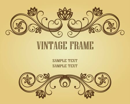 Vintage frame in victorian style for design as a background Stock Vector - 6685982