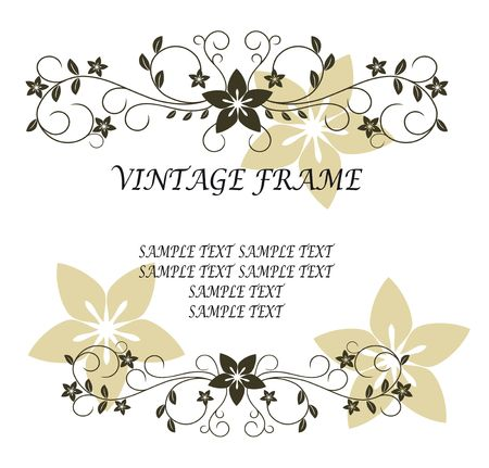 Vintage frame in victorian style for design as a background Stock Vector - 6685987