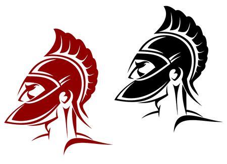 cascos romanos: Guerrero antiguo s�mbolo como un concepto de seguridad o de alimentaci�n