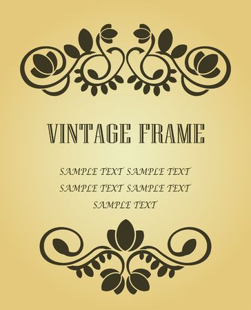 Vintage frame in victorian style for ornate and design Stock Vector - 6696949