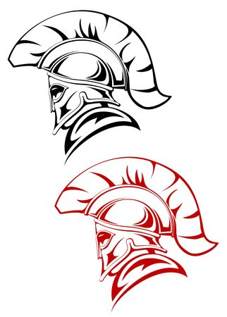Ancient warrior symbolu jako koncepcji bezpieczeństwa lub zasilania Ilustracje wektorowe