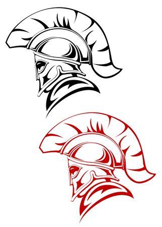 Oude krijger symbool als een concept van veiligheid of macht  Vector Illustratie