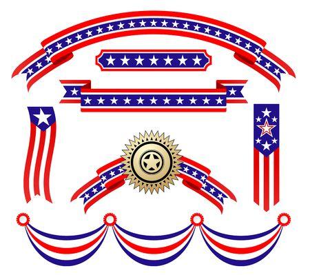 voting: US-amerikanische patriotische B�nder f�r Design und dekorieren