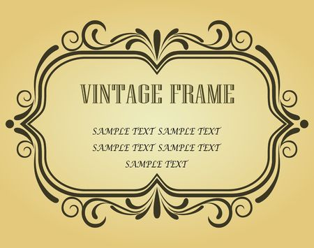 Vintage frame in victorian style for design as a background Stock Vector - 6725432
