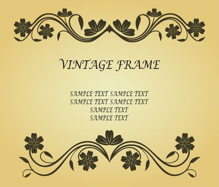 Vintage frame in victorian style for design as a background Stock Vector - 6725433