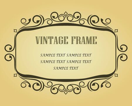 Vintage frame in victorian style for design as a background Stock Vector - 6725430