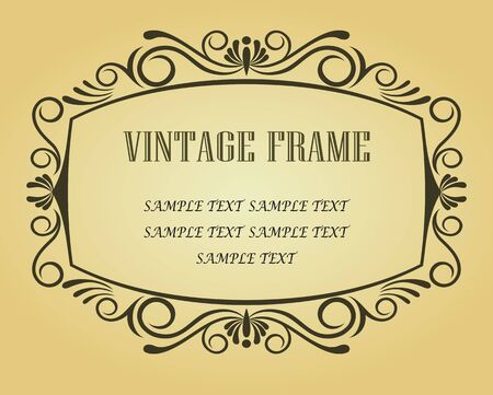 Vintage frame in victorian style for design as a background Stock Vector - 6725428