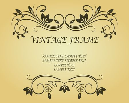 Vintage frame in victorian style for design as a background Stock Vector - 6827161
