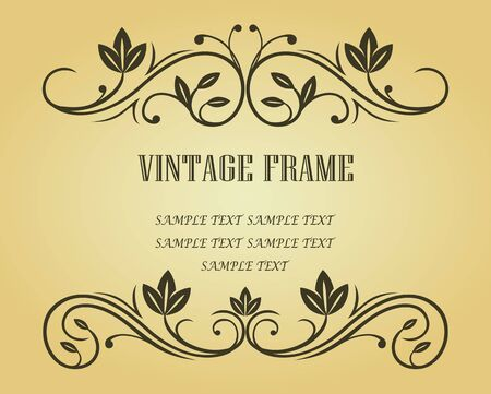 Vintage frame in victorian style for design as a background Stock Vector - 6827158