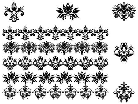 Flower patterns and borders for design and ornate Stock Vector - 6827165
