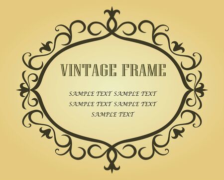 Vintage border in victorian style Vector