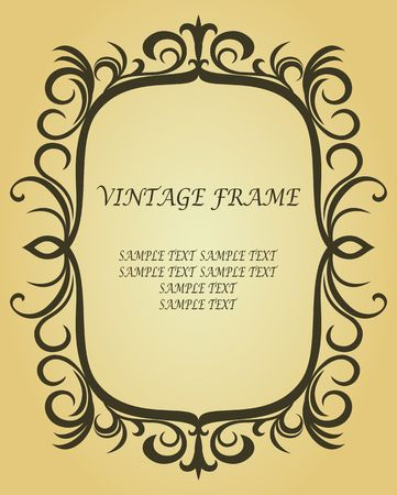 Vintage border in victorian style as a background Stock Vector - 6827169