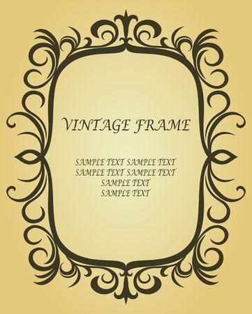 Vintage frontière dans le style victorienne comme arrière-plan Vecteurs