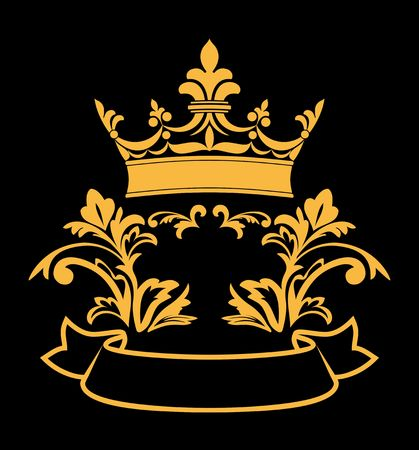 aristocracy: Heraldic crown with elements for design and decorate