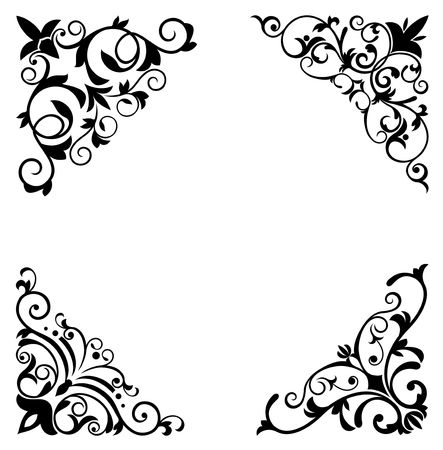rococo: Flower patterns and borders for design and ornate