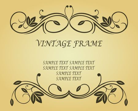 Antique vintage frame on background for design Stock Vector - 6827192