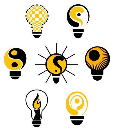 Set of light bulb symbols for design Stock Vector - 6827178