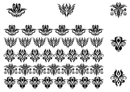 Flower patterns and borders for design and ornate Stock Vector - 6827220
