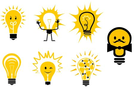 Set of light bulb symbols for design Stock Vector - 6827206