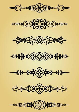 symmetry: Flower patterns and borders for design and ornate