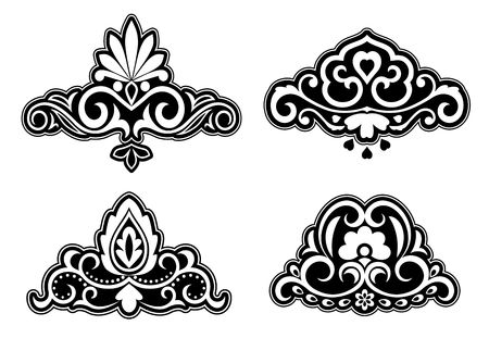 brocade: Flower patterns and borders for design and ornate