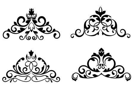 scroll design: Floral patterns and borders for design and ornate
