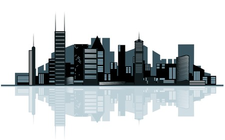 real estate background: Modern cityscape for design as a business concept
