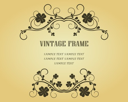 Vintage frame in victorian style for design as a background Stock Vector - 7040782