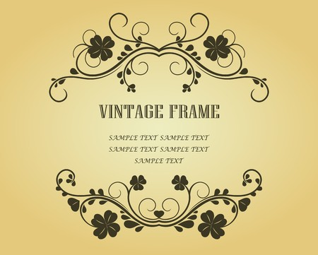 Vintage frame in victorian style for design as a background Stock Vector - 7040781