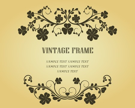 Vintage frame in victorian style for design as a background Stock Vector - 7040783