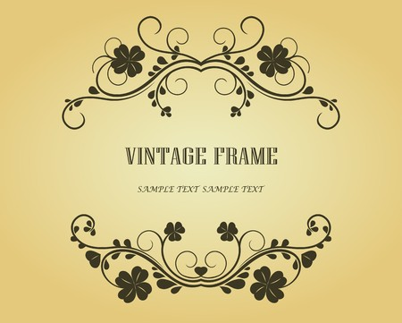 Vintage frame in victorian style for design as a background Stock Vector - 7040779