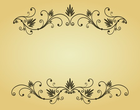 Vintage frame in victorian style for design as a background Stock Vector - 7040869