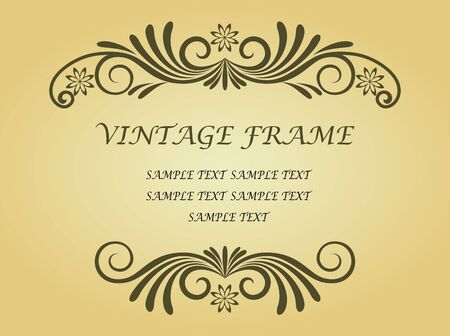 Floral frame in victorian style for design as a background Stock Vector - 7079669